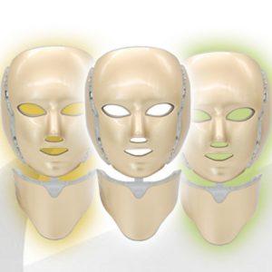 ماسک گلد گردن دار و صورت ال ای دی نور درمانی LED facial mask