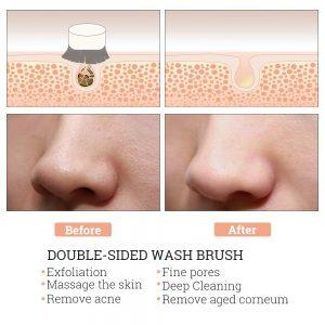 ست برس پاکسازی و درمارولر سنگی پوست آیسلی Face Brush And Jade Massager Set Aisili